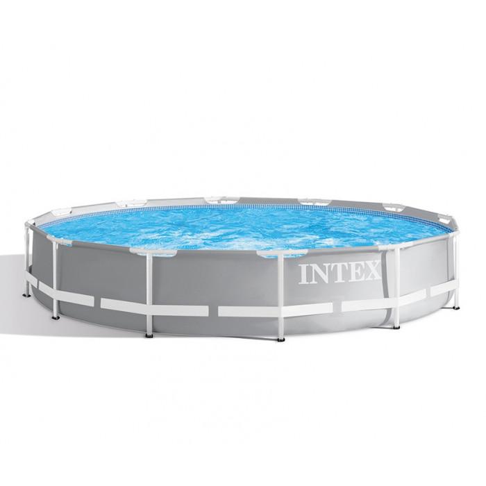 piscine tubulaire ronde intex prism frame 3 66 x 0 76 m. Black Bedroom Furniture Sets. Home Design Ideas