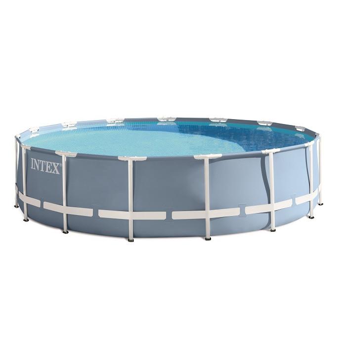 piscine tubulaire ronde intex prism frame 4 57 x 1 07 m. Black Bedroom Furniture Sets. Home Design Ideas