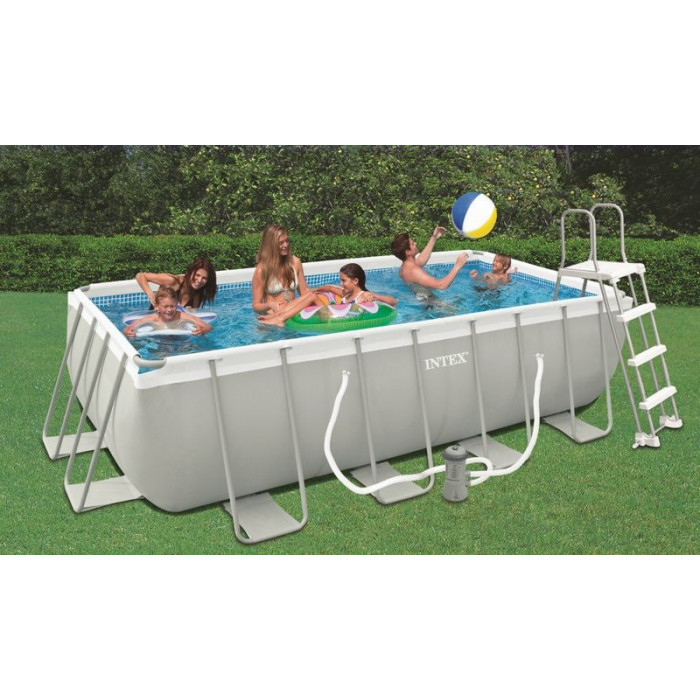 Intex piscine tubulaire for Piscine tubulaire rectangulaire intex pas cher