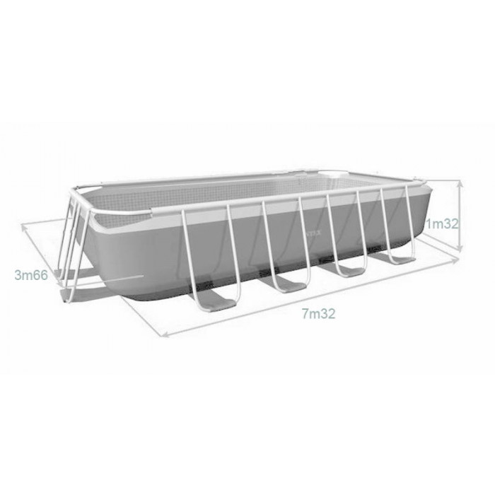 piscine tubulaire ultra silver 7.32 x 3.66 x 1.32 m