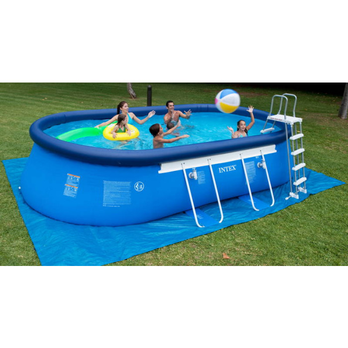 Piscine intex ellipse x x m achat sur raviday piscine for Piscine auto portante