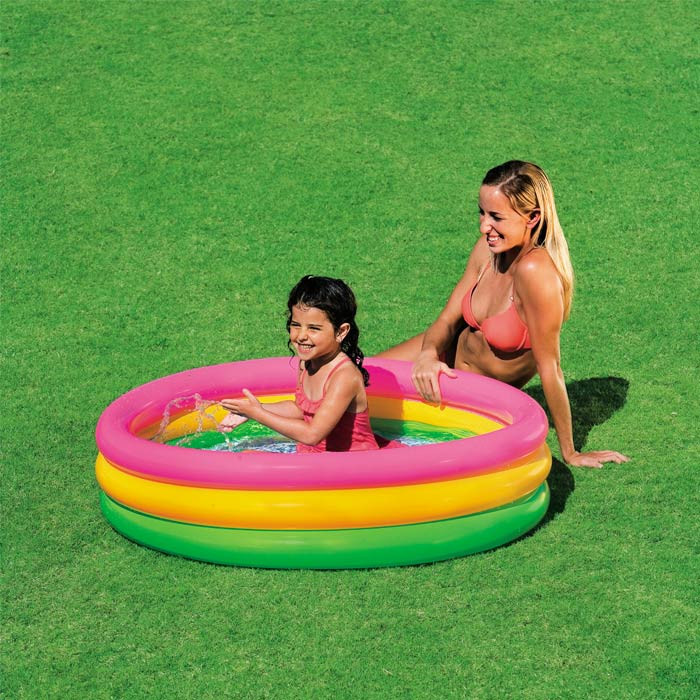 Piscinette gonflable intex sunset glow achat sur raviday for Achat piscine intex