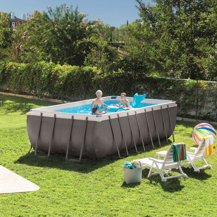 Piscine tubulaire intex ultra silver x x for Piscine intex 4 57 x 1 22