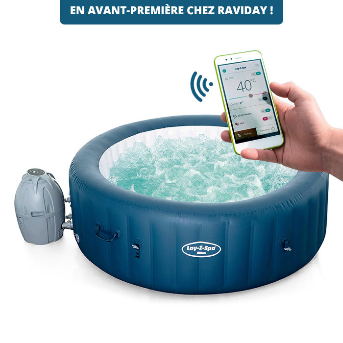 Spa Gonflable Bestway Lay Z Spa Milan Avec Commande Wi Fi