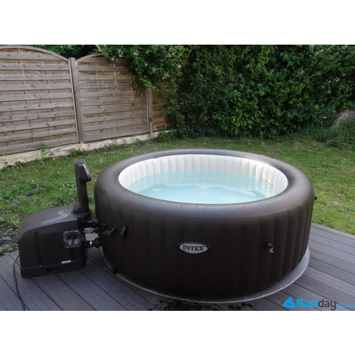 Spa gonflable intex pure spa jets 4 places 595 seulement - Spa exterieur 4 places ...