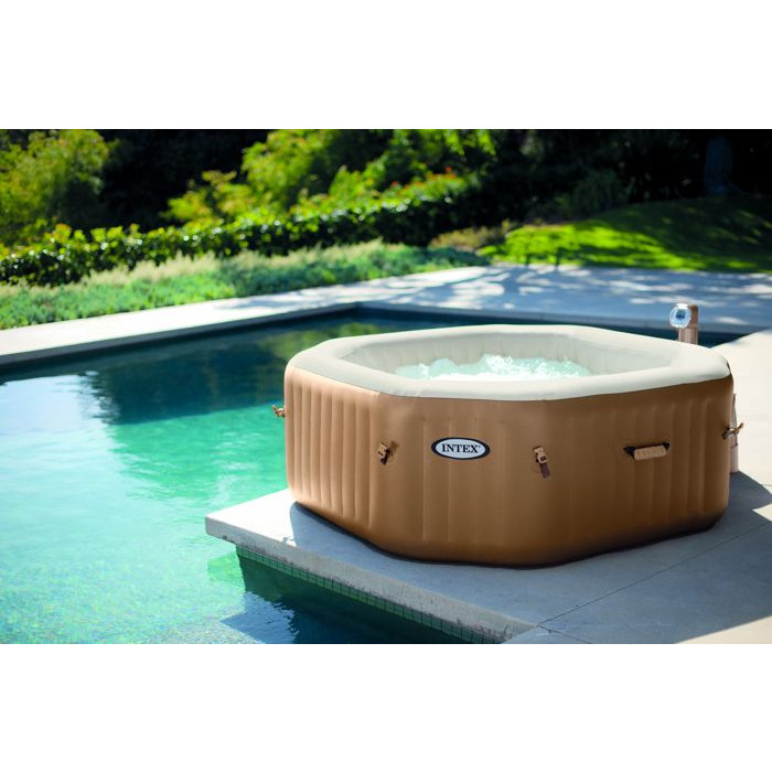 Spa intex gonflable pure spa bulles 4 places moins cher for Achat piscine