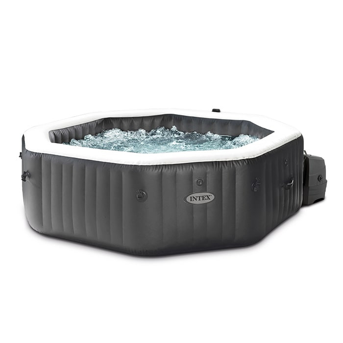 Spa Gonflable Intex Carbone 4 Places Avec Jets Et Bulles Raviday Piscine
