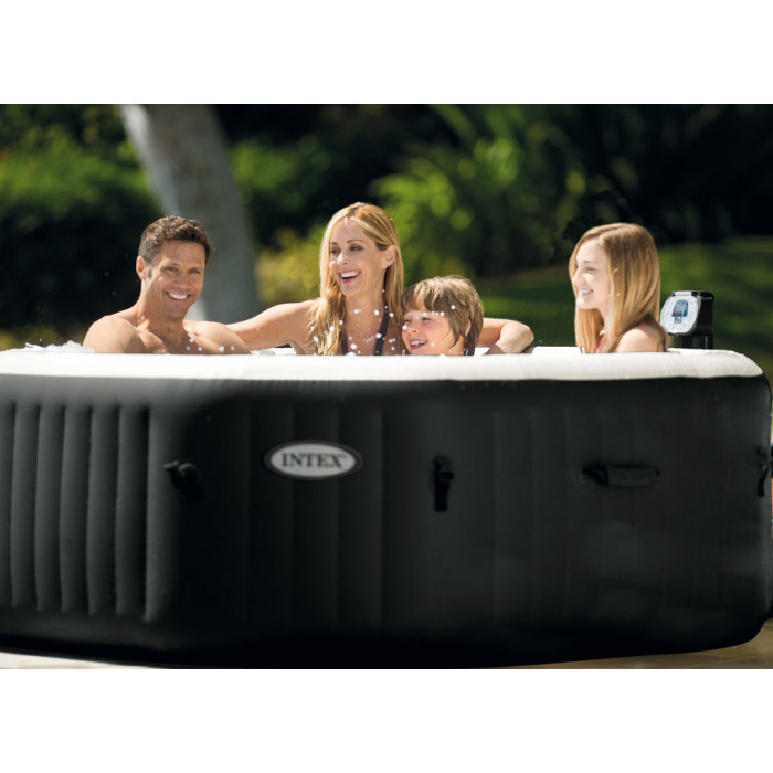 spa intex gonflable pure spa jets et bulles octogonal moins cher chez raviday piscine. Black Bedroom Furniture Sets. Home Design Ideas