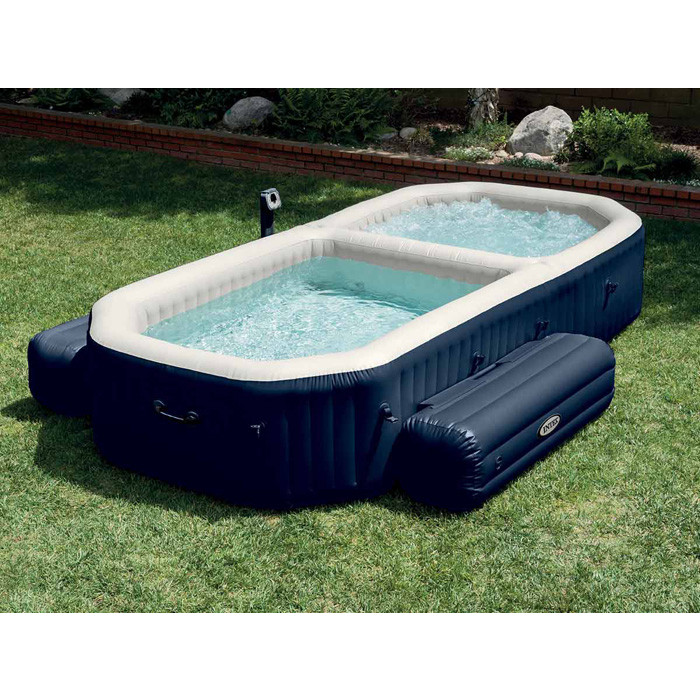 Spa gonflable intex pure spa plus avec piscine int gr e for Piscine 4 par 8