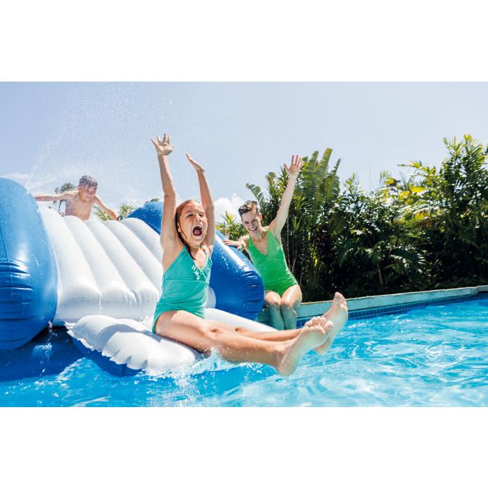 toboggan gonflable intex pour piscine enterr e. Black Bedroom Furniture Sets. Home Design Ideas
