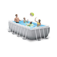 Piscine tubulaire rectangulaire Intex Prism Frame 4 x 2 x 1 m