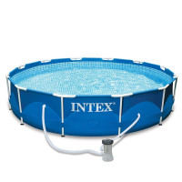 Piscine tubulaire Intex Metal Frame 3.66 x 0.76 m + épurateur 1,7 m3/h