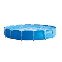 Kit piscine tubulaire Intex Metal Frame 457 x 84 cm