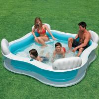 Piscine gonflable familiale Intex avec sièges