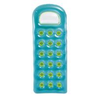 Matelas gonflable INTEX transparent à poches-Turquoise