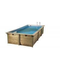 Piscine en bois rectangulaire Ubbink Azura 350 x 505
