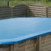 Bâche de protection pour piscine octogonale allongée Ubbink