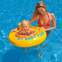 Bouée bébé culotte Intex My baby float Jaune