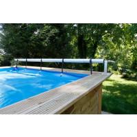Enrouleur de bâche à bulles pour piscine en bois Ubbink Premium