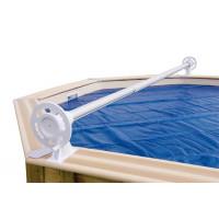 Enrouleur de bâche à bulles pour piscine en bois Ubbink Luxe