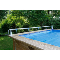 Enrouleur de bâche à bulles pour piscine en bois Ubbink Xtra