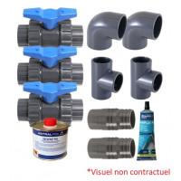 Kit By-Pass pour pompe à chaleur Ubbink Heatermax COMPACT