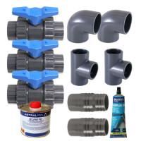 Kit By-Pass pour pompe à chaleur Ubbink Heatermax INVERTER