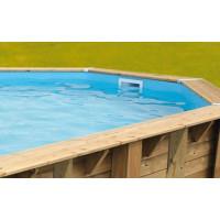 Liner bleu pour piscine en bois Ubbink