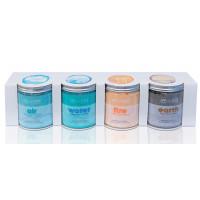 Lot de 4 pots 370g de cristaux parfumés pour spa