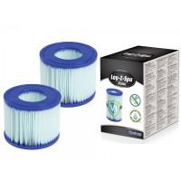 Cartouche filtre de spa Bestway Lay-Z-Spa Type VI Antimicrobien - Lot de 2
