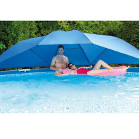 Ombrelle Parasol pour piscine tubulaire de 3,66 à 5,49 m Intex