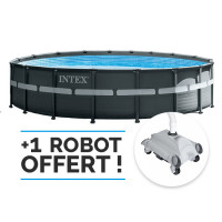 Piscine tubulaire ronde Intex Ultra XTR 5.49 x 1.32m