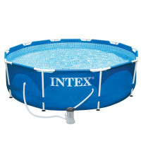 Piscine tubulaire Intex Metal Frame 3.05 x 0.76 m + Epurateur 1 m3
