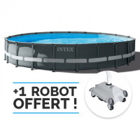 Piscine tubulaire Intex Ultra XTR Frame 6.10 x 1.22 m