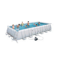 Piscine tubulaire rectangulaire Bestway Power Steel 7,32 x 3,66 x 1,32
