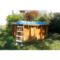 Piscine en bois octogonale Ubbink Sunwater All in ONE 360
