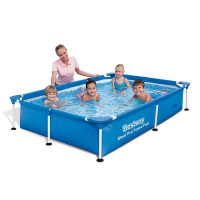 Piscine tubulaire Bestway rectangulaire Steel Pro 2.21 x 1.50 x 0.43 m