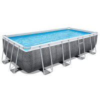 Piscine tubulaire Bestway Power Steel Rotin Gris 5.49 x 2.74 x 1.22 m