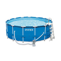 Kit piscine tubulaire Intex Metal Frame 4.57 x 1.22 m