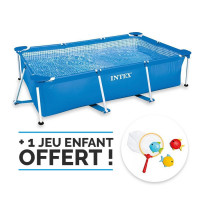 Piscine tubulaire Intex Metal Frame Junior 3 x 2 x 0.75 m + Epurateur 1,25m3/h
