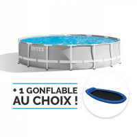 Piscine tubulaire Intex Prism Frame 3,66 x 1,22 m - Coloris Gris
