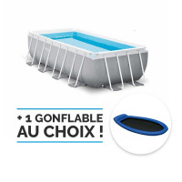 Piscine tubulaire rectangulaire Intex Prism Frame 4 x 2 x 1 m - Coloris Gris