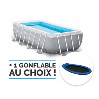 Piscine tubulaire Intex Prism Frame 4,88 x 2,44 x 1,07 m - Coloris Gris