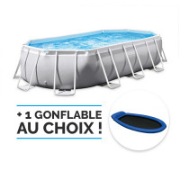 Piscine tubulaire ovale Intex Prism Frame 4 x 2 x 1m