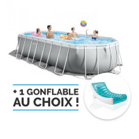 Piscine tubulaire ovale Intex Prism Frame 6.10 x 3.05 x 1.22m