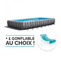 Piscine tubulaire rectangulaire Intex Ultra XTR 9.75 x 4.88 x 1.32 m