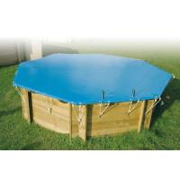 Bâche de protection pour piscine octogonale Ubbink