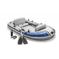 Set bateau gonflable 4 places Intex Excursion 4