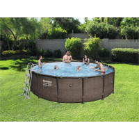 Piscine tubulaire ronde Bestway Power Steel Deluxe Series 4.27 x 1.07 m
