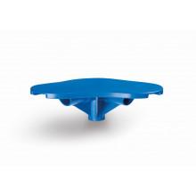 Pièce d'angle pour tubulaires rectangulaires bleues